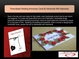 Personalised Wedding Anniversary Cards By Handmade With Heartcards