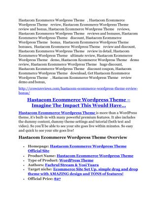 Hastacom WP Theme review-SECRETS of Hastacom WP Theme and $16800 BONUS