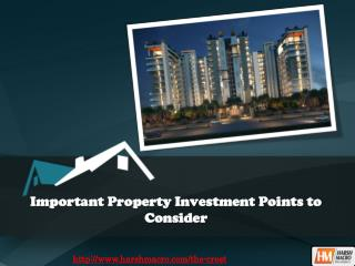 Important Property Investment Points to Consider