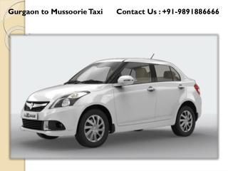 Hire Gurgaon Mussoorie Taxi Car