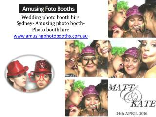 Wedding photo booth hire Sydney- Amusing photo booth-Photo booth hire