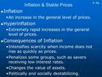 Inflation  Stable Prices
