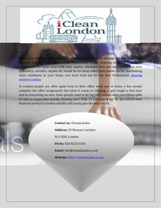 Top Cleaning Services London