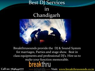 Best DJ Setup | Live Stage Performance in Chandigarh -BTS