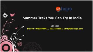 Summer Treks You Can Try In India