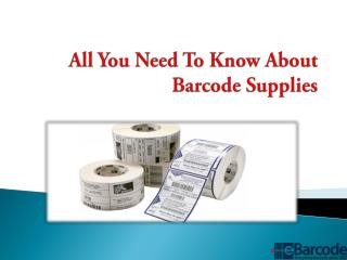 All You Need To Know About Barcode Supplies