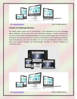 Vorteile von Webdesign M�nchen