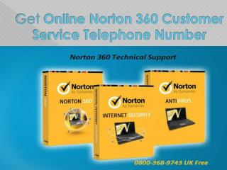 Get Online Norton 360 Customer Service Telephone Number