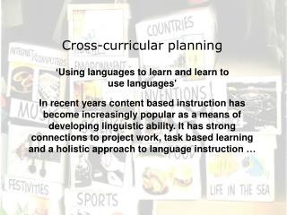 Cross-curricular planning