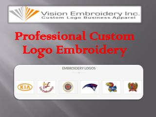 Professional Custom Logo Embroidery