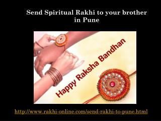 Send spiritual rakhi to your brother in pune