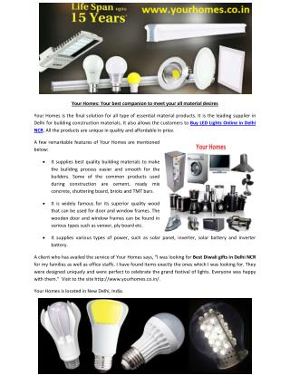 Buy LED Lights Online in Delhi NCR