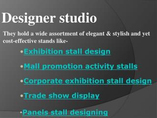 Award Winning Stand Designer