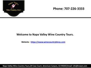 Private wine tours sonoma