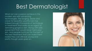 Choose the best Dermatologist in Delhi