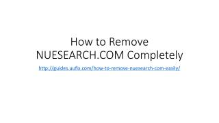 How to remove nuesearch.com completely