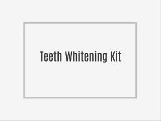 What does Teeth whitening involve?