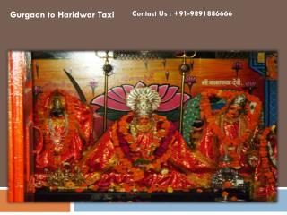 Gurgaon Haridwar Taxi Service