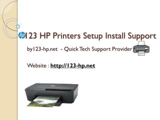 123 HP Setup & Printer Install Support