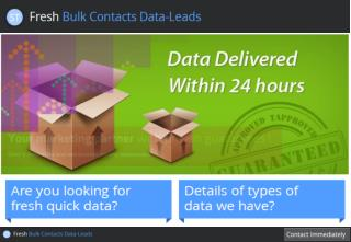 Purchase trusted and fresh bulk contacts data leads UK