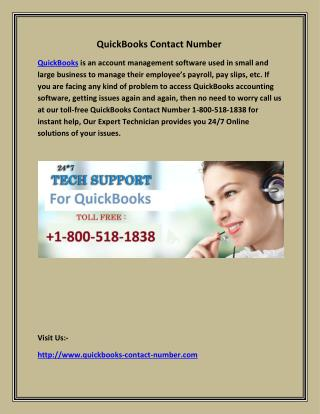 QuickBooks Contact Number
