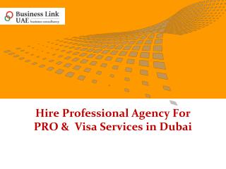 Hire Professional Agency For PRO &  Visa Services in Dubai