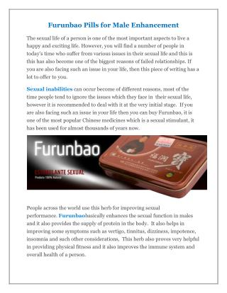 Furunbao Pills for Male
