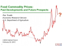 Food Commodity Prices: Past Developments and Future Prospects
