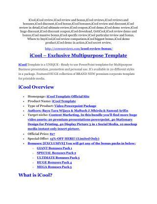 iCool Review & iCool $16,700 bonuses