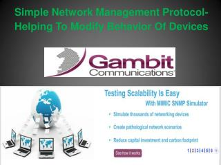 Simple Network Management Protocol- Helping To Modify Behavior Of Devices
