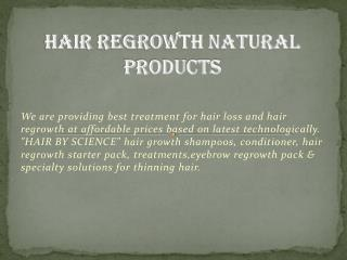 Hair Regrowth Natural Products - Hair By Science