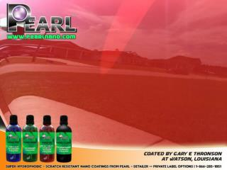 Pearl Nano Coatings with long lasting results in car care