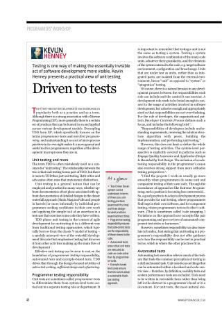 Driven to Tests