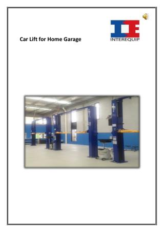 Car Lift for Home Garage