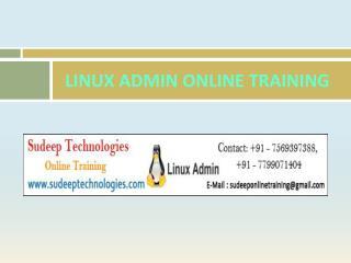 Best Linux admin Online Training in Hyderabad