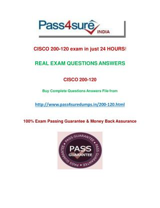 Pass4sure 200-120  Exam Questions