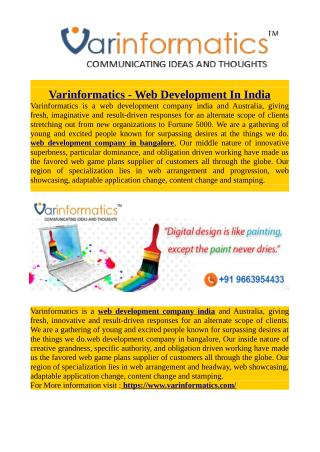 Varinformatics - Web Development In India
