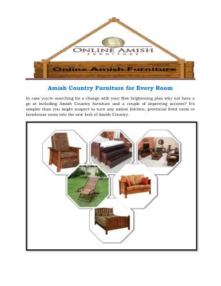 Amish Country Furniture for Every Room