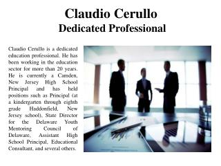 Claudio Cerullo Dedicated Professional