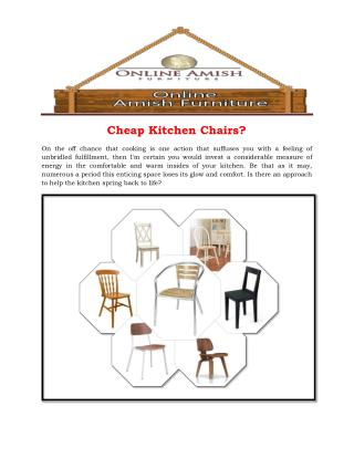 Cheap Kitchen Chairs?