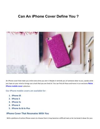 Can An iPhone Cover Define You
