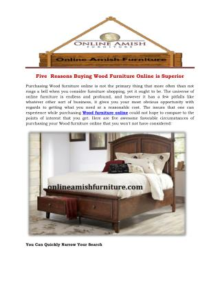 Five  Reasons Buying Wood Furniture Online is Superior