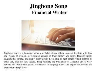 Jinghong Song Financial Writer