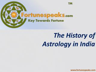 The History of Astrology in India