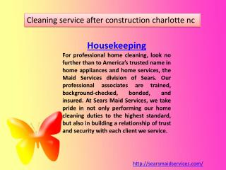 house cleaning estimates charlotte