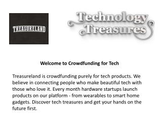 Treasureland - Tech Crowdfunding Platform