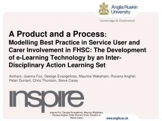 A Product and a Process: Modelling Best Practice in Service User and Carer Involvement in FHSC: The Development of e-Lea