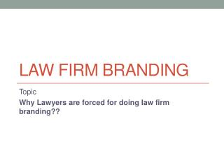 Advocate Branding | Law Firm Branding