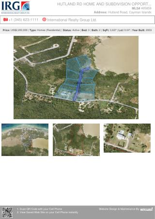 Cayman Islands Real Estate - Hutland Rd Home And Subdivision Opportunity