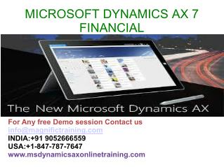 Microsoft dynamics ax 7 Finance Online Training